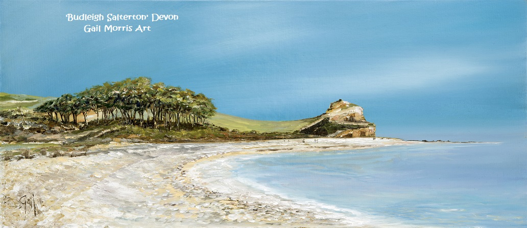 Limited Edition Prints of 'Budleigh Salterton' from an original oil painting by West Country artist Gail Morris. Prices from £45 - £135