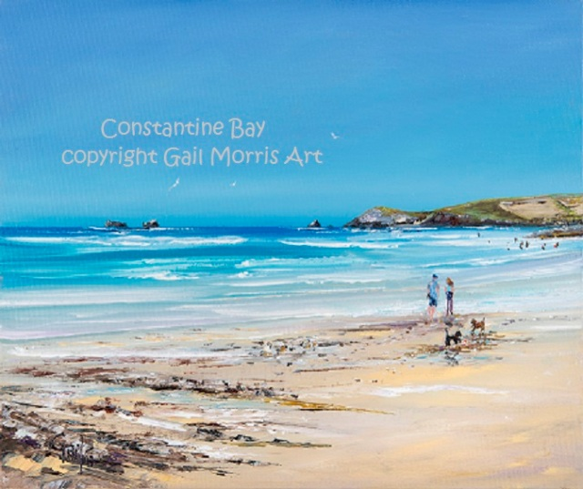 'Constantine Bay' Cornwall - limited edition prints from an original oil painting by Gail Morris £30 - £38