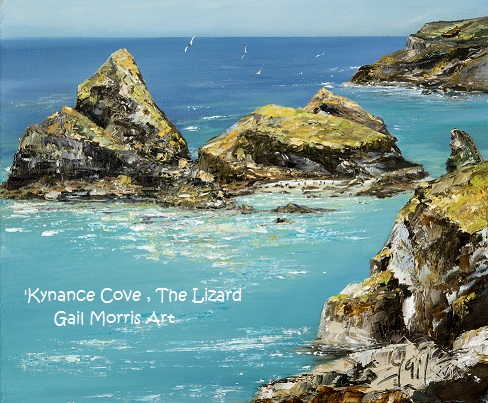 'Kynance Cove' The Lizard, Cornwall Limited Edition Prints from an original oil painting by Gail Morris Art £30 - £75 www.gailmorris.co.uk
