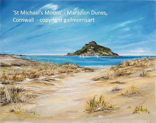 'St Michaels Mount' - Marazion Dunes, Cornwall