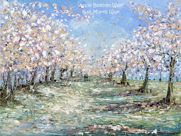 'Apple Blossom Walk' Limited edition prints from an original painting by Gail Morris. £30 - £75