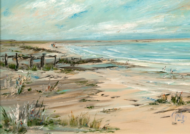 'By The Coast' Galloway, Scotland Limited Edition Prints of this original oil painting by Gail Morris are available from £30 - £75