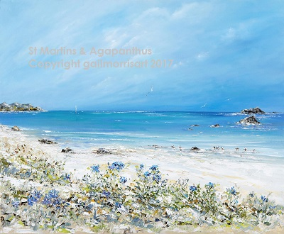 St Martins and Agapanthus - Isles of Scilly