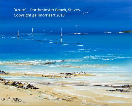 Azure - Porthminster Beach, St Ives, Cornwall. Limited Edition Prints from Gail Morris Art