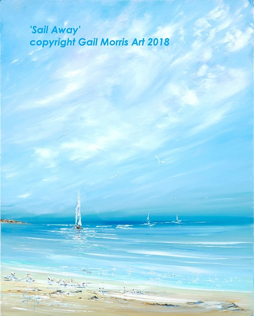 'Sail Away' Limited Edition Print by Gail Morris Art