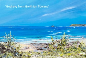 Godrevy from Gwithian Towans web