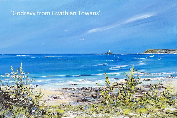 'Godrevy from Gwithian Towans' - Cornwall