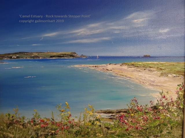 'Rock towards Stepper Point' - Cornwall