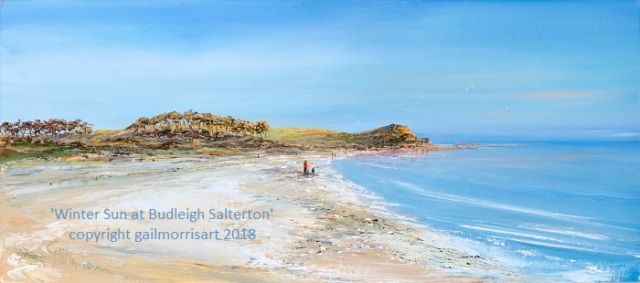 'Winter Sun at Budleigh' - Limited Edition prints from an original oil painting by Gail Morris £55 - £135 www.gailmorris.co.uk