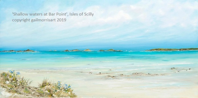 'Shallow water at Bar Point' £425 Original oil painting by Gail Morris Art