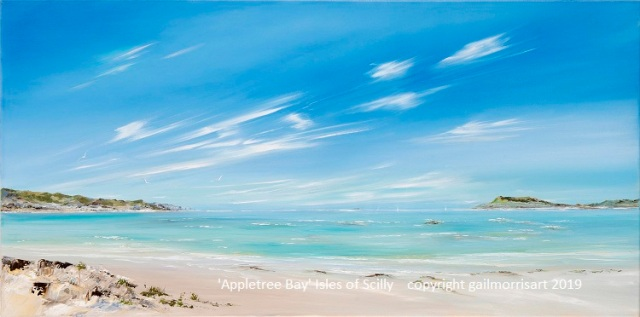 Appletree Bay - Original oil by Gail Morris
