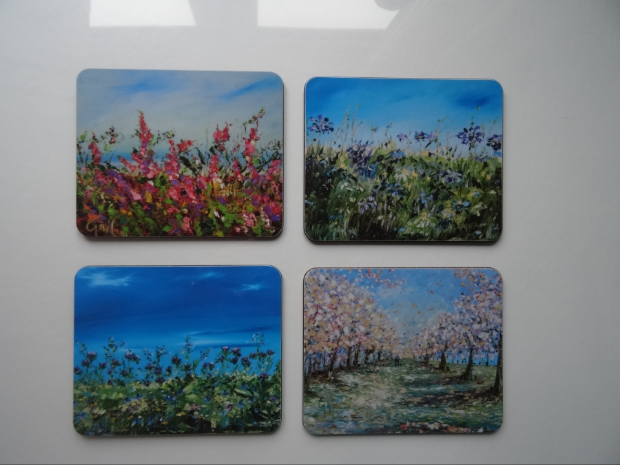 Melamine Coasters and Placemats - Flower Collection