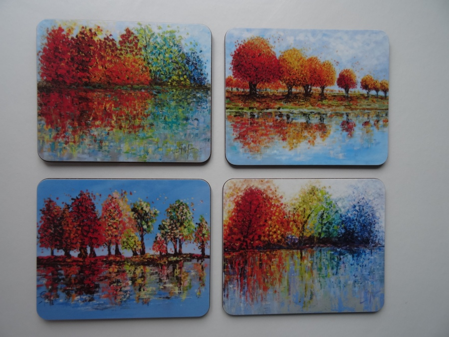 Melamine Coasters and Placemats - Tree Collection