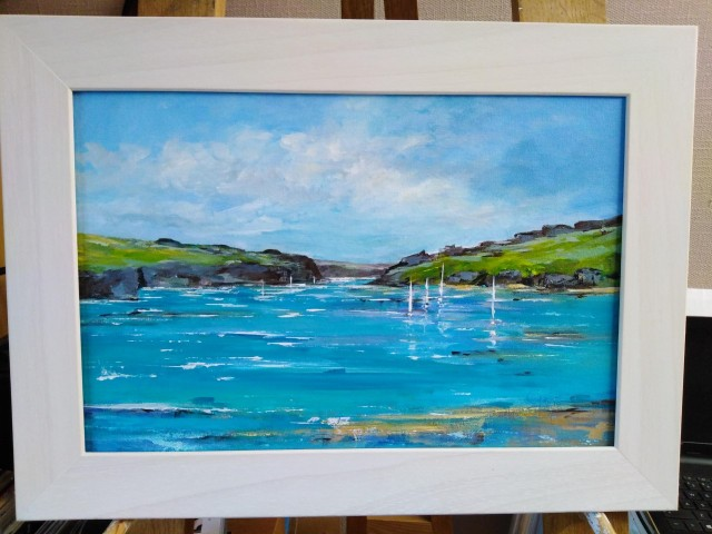 'Sailing Through' Carrick Roads, Nr Falmouth, Cornwall. Original painting by Gail Morris Art £275 www.gailmorris.co.uk