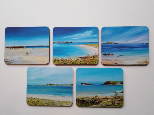 'Cornish Placemats and Coasters' Malamine Gloss Finish