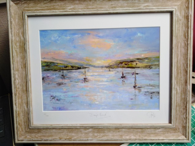 Days End, Carrick Roads, Framed Limited Edition Prints from £35 - £85 (P&P Extra)