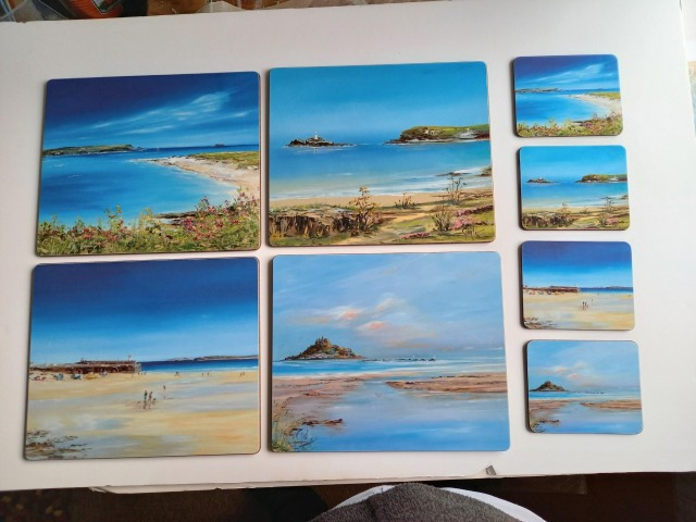 Placemats and Coasters Cornish set £35