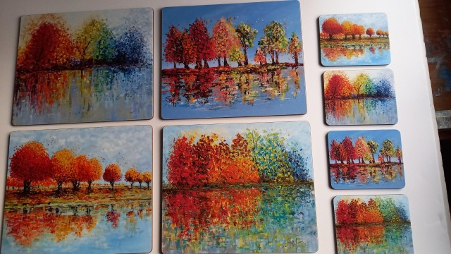 Tree Set - Placemats and Coasters