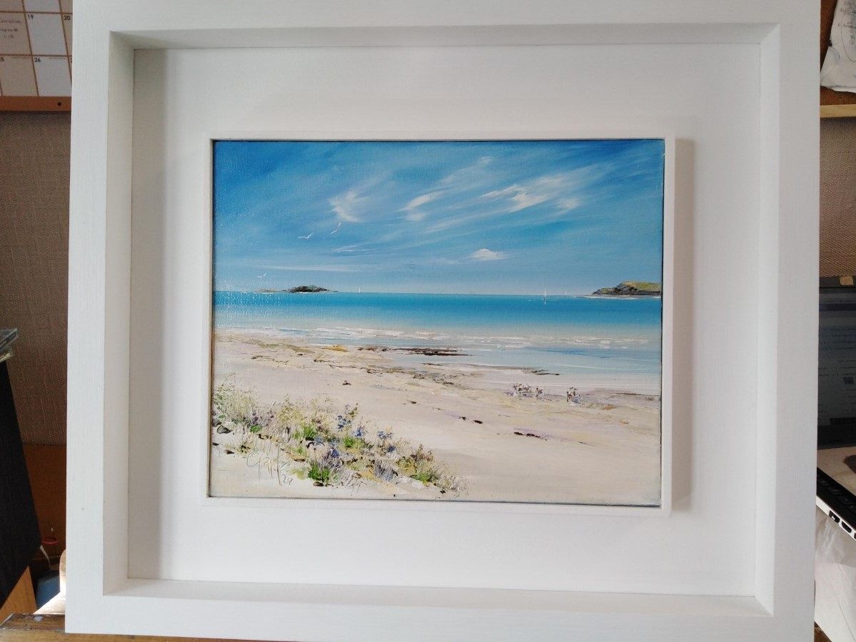 Waters Edge - Tresco - Isles of Scilly - Original oil painting by Gail Morris Art studio. Original now SOLD but prints are available from £40 Please contact gailmorrisart@hotmail.co.uk