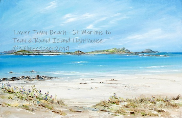 Lower Town Beach St Martins to Tean & Round Island Lighthouse