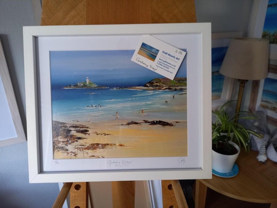 "Godrevy Days with white frame 13"" x 11"" £35"
