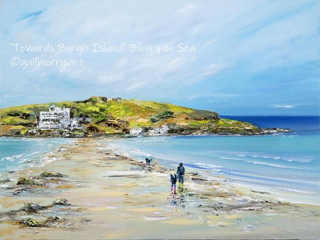 'Towards Burgh Island' - Bigbury on Sea, Devon Framed prints from £38 to £85