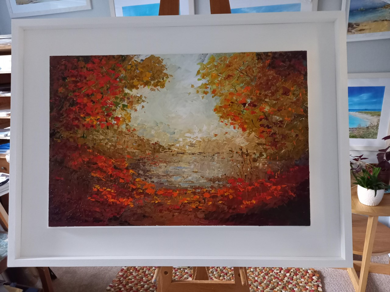 "'Autumn Path' Original oil painting - Framed Dimensions 38"" X 28"" £475"