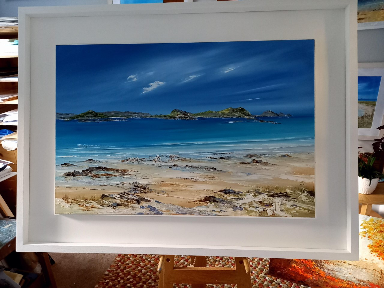 St Martins and Waders -St Martins Isles of Scilly  - Original Oil Painting now SOLD Prints are available from £45 - £135 contact gailmorrisart@hotmail.co.uk