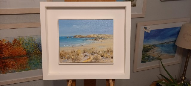 Constantine Bay Original oil painting now available from www.gailmorris.co.uk
