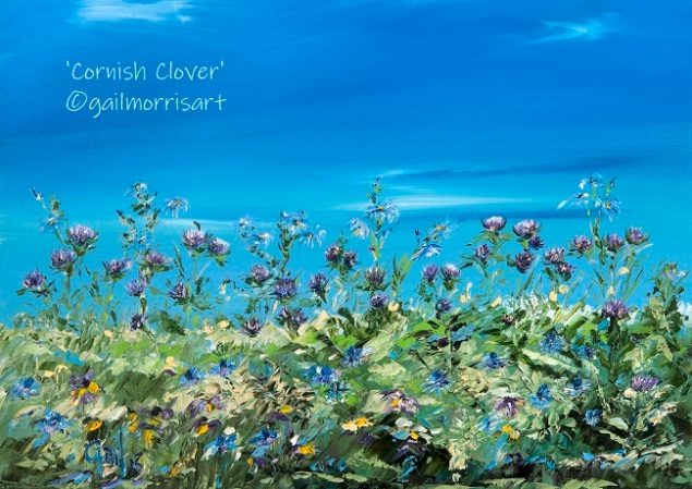 Cornish Clover - Part 2 of my Hedgerow Series Framed Prints £40 and £75