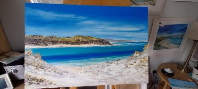 Original Oil Painting released January 2021, Hayle to Porthkidney ©gailmorrisart2021