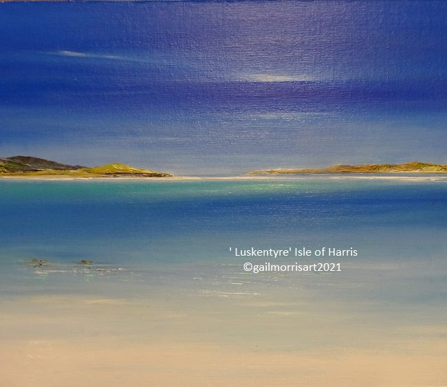 Luskentyre - Isle of Harris - Outer Hebrides - Original oil £245 - Now reserved - Prints available soon. (Feb 2021)
