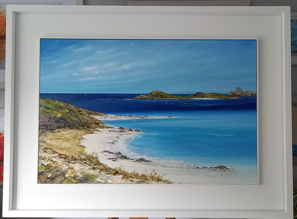 Cooks Porth - Tresco, Isles of Scilly - Original oil painting just released, NOW SOLD - prints are available from £38 upwards. #Tresco #originaloilpainting  #buydirectfromtheartist #IslesofScilly #Art