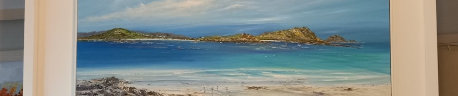 St Martins and Waders II Original framed oil painting £495 Released 29.5.2021