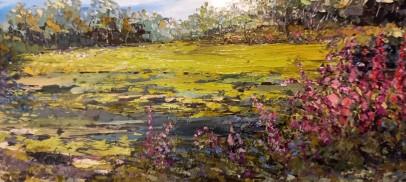 Foxgloves & Bluebells original oil painting by Gail MOrris Art - new for Summer 2021