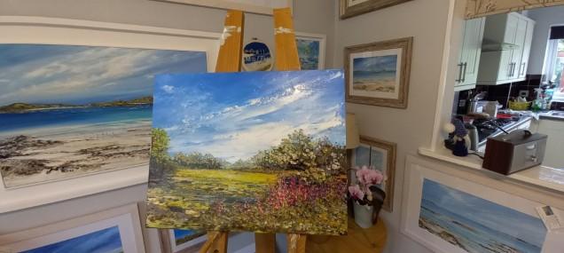 Foxgloves & Bluebells Original Oil Painting £375
