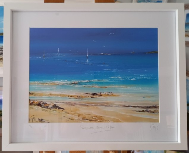 Porthminster Beach, St Ives looking across to Godrevy Lighthouse £70