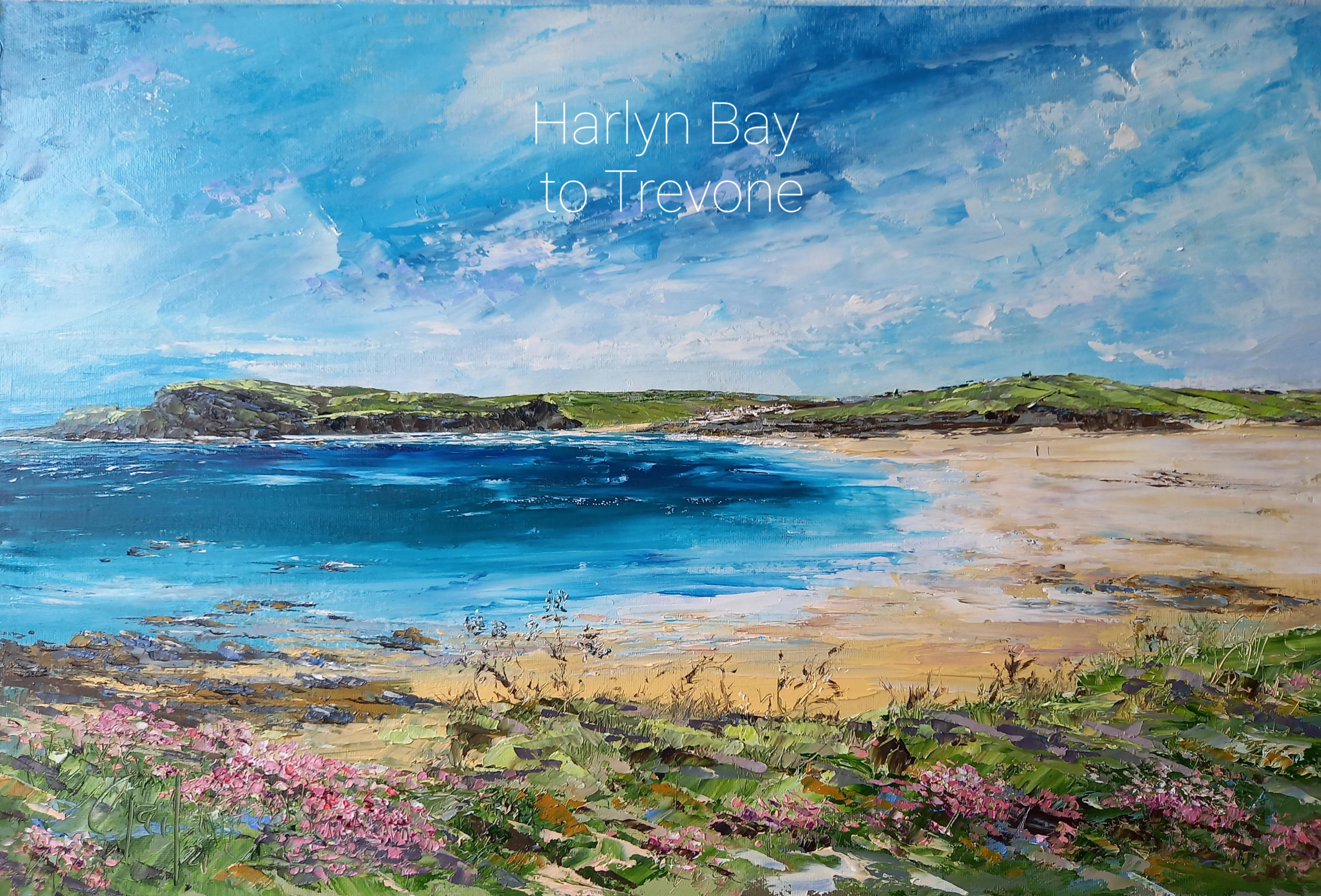 'Harlyn Bay to Trevone' - original oil painting £395
