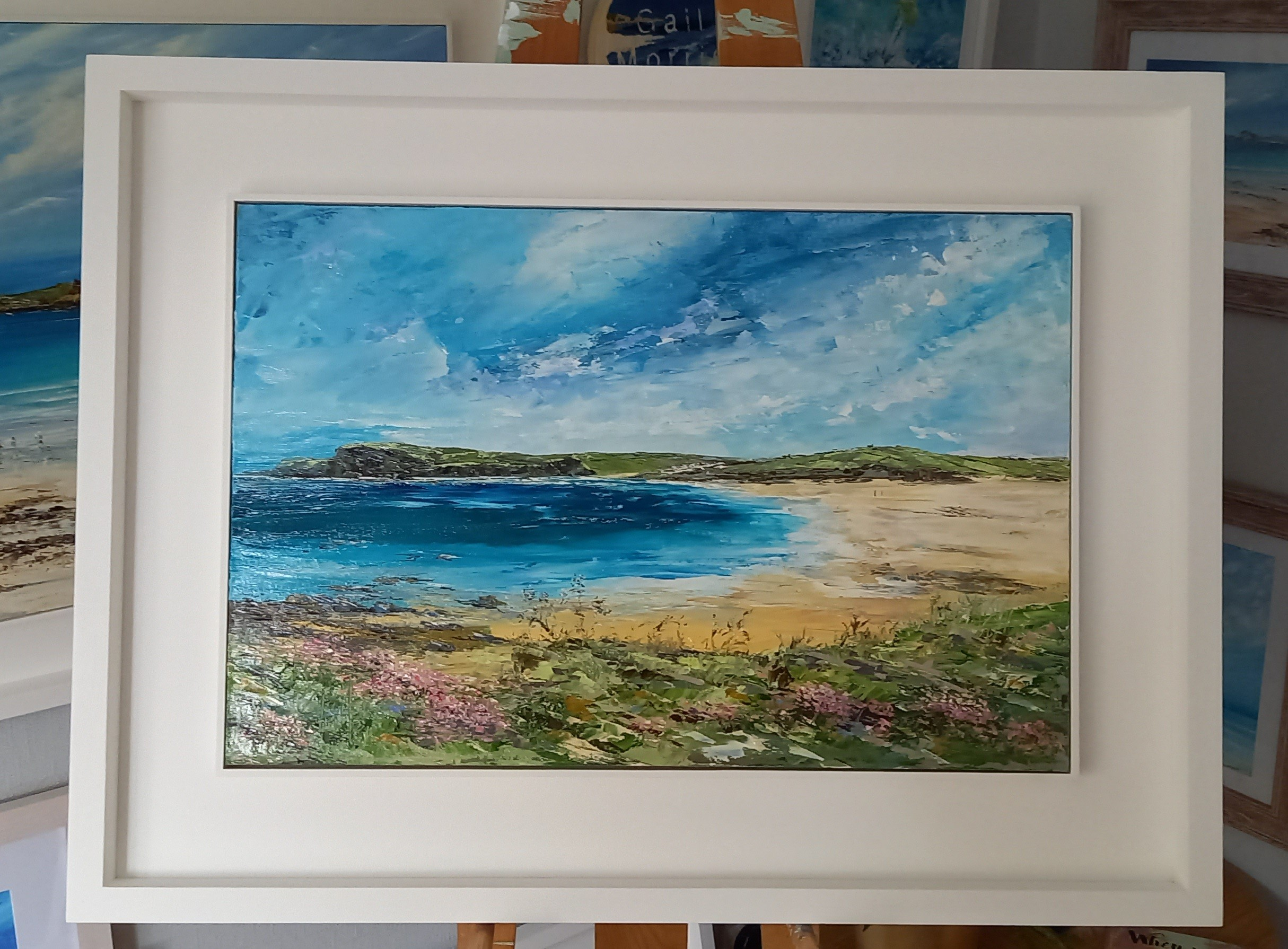 Harlyn Bay to Trevone Original Oil Painting £475